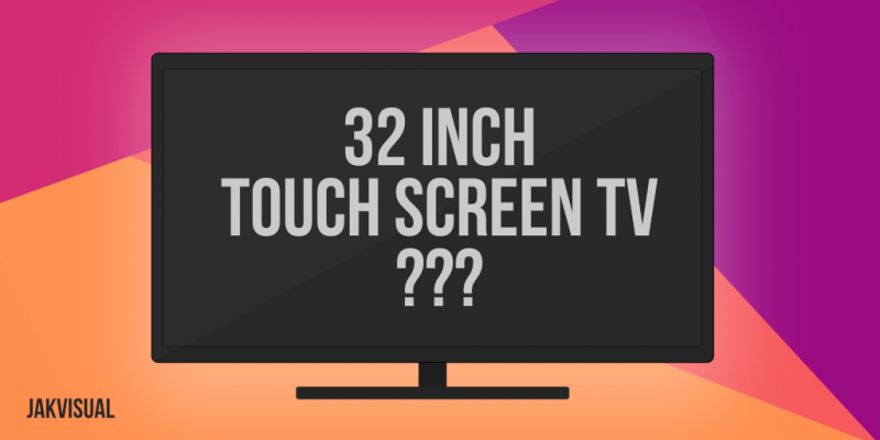 tv touch screen overlay 32 inch