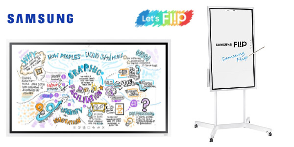 Papan Interaktif Digital Presentasi Samsung Flip