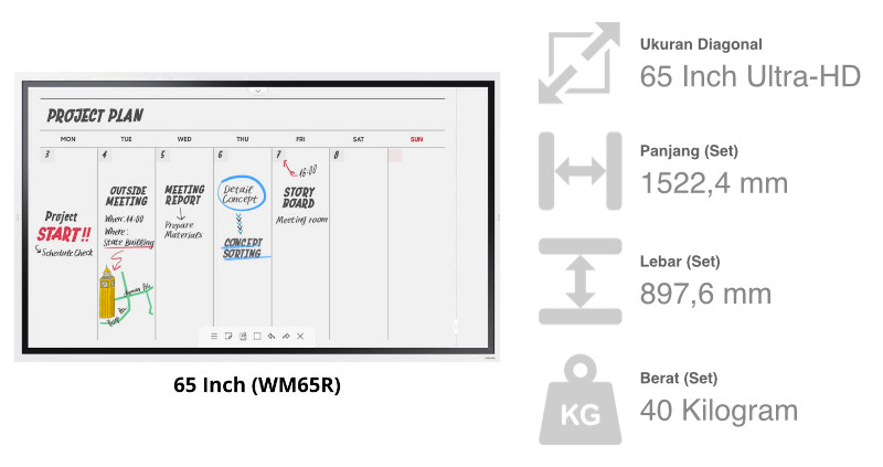 Samsung Flip WM65R 65 Inch