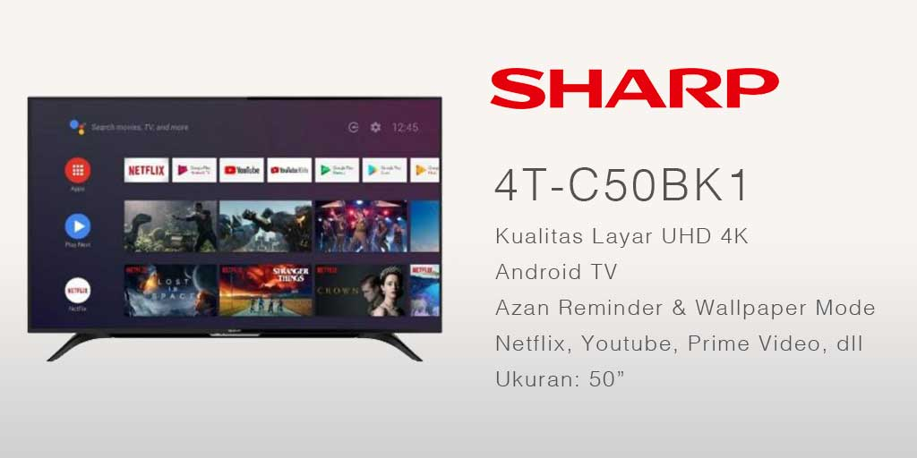smart tv terbaik SHARP