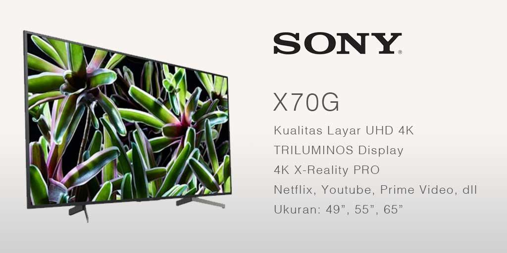 smart tv terbaik UHD 4K Sony