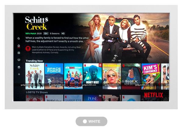 jual tv touchscreen warna putih